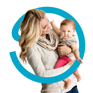 Credit Help image of woman holding baby