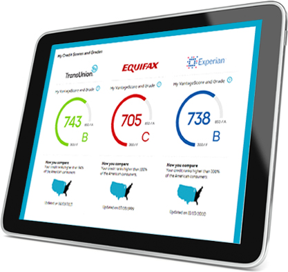 Tablet - 3 Bureau Reports & Scores