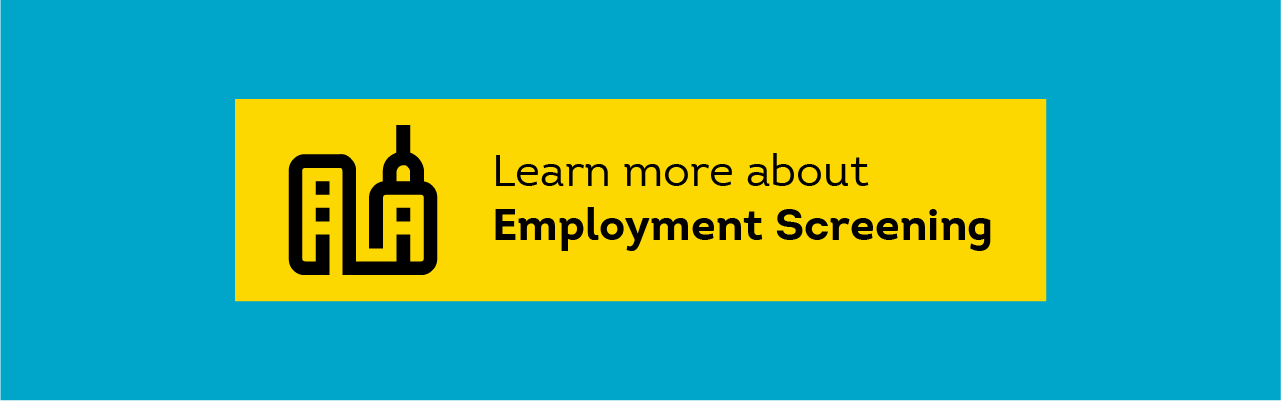 learn more about employment screening graphic