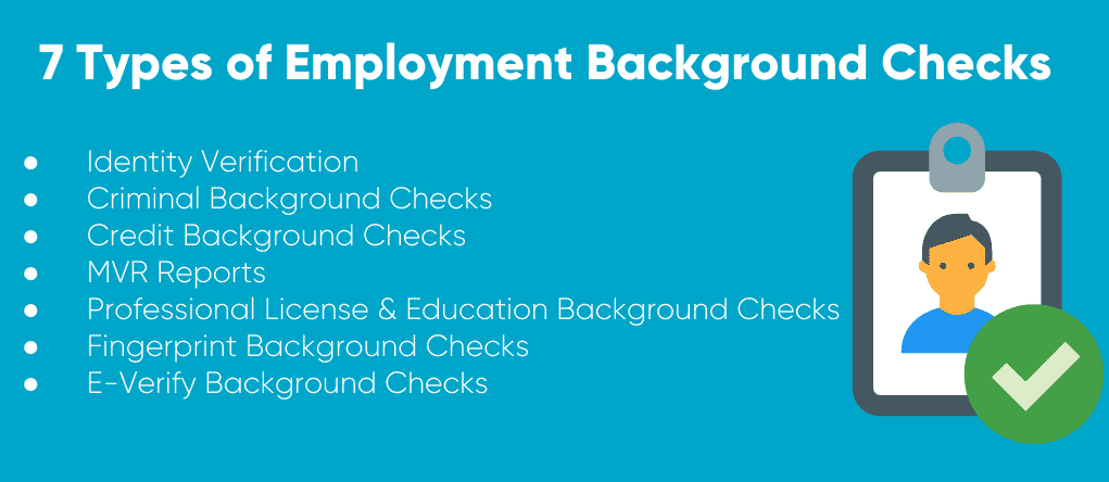 7 Types of Employment Background Checks