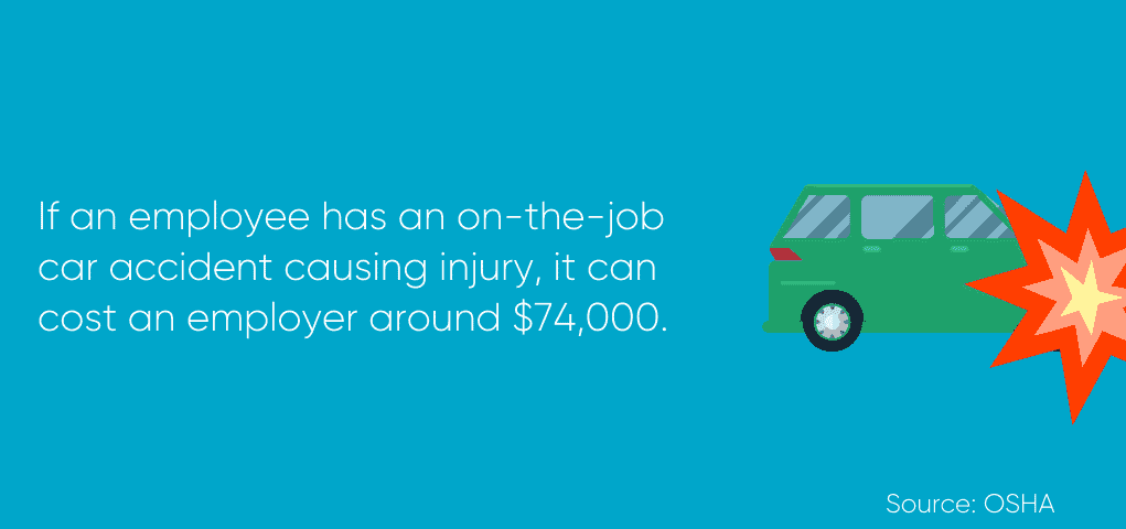 Cost of employee car accident