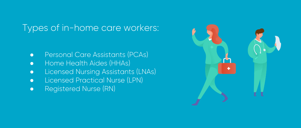 Types of in-home caregivers