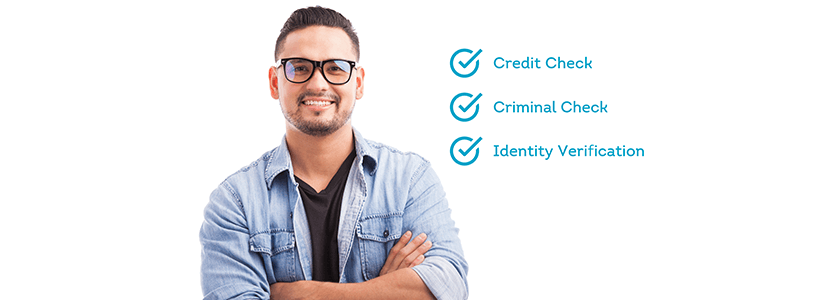 Background check with built-in identity verification