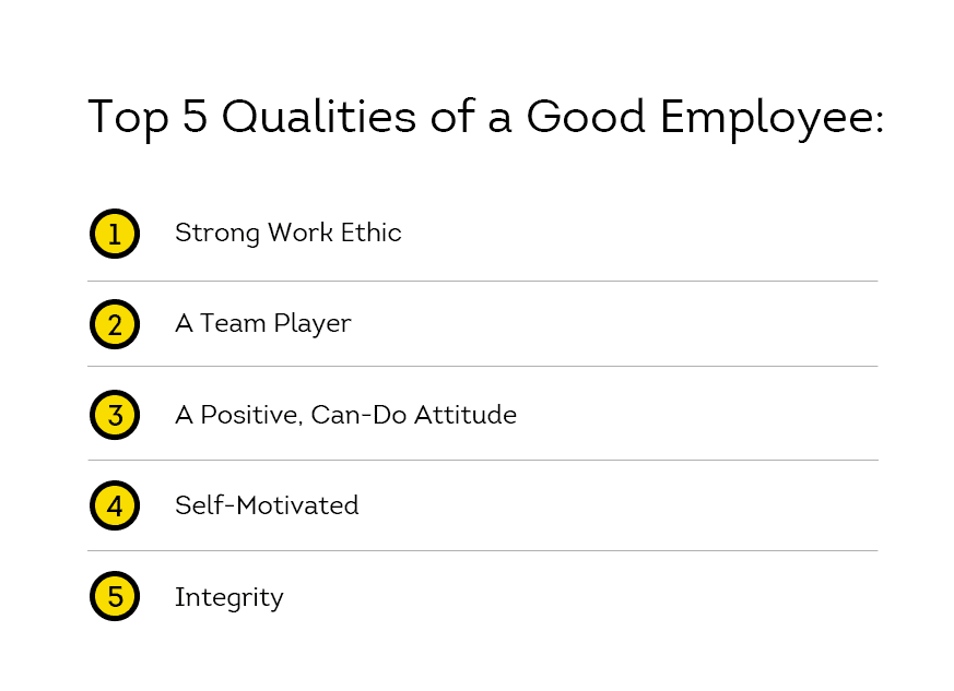 top qualities of good employees
