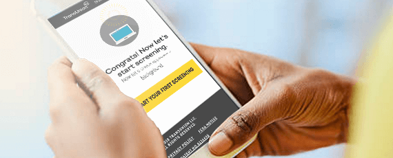 create account online to start candidate screening