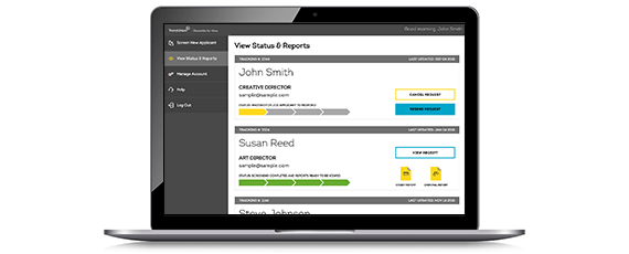 manage pre-employment reports in your dashboard