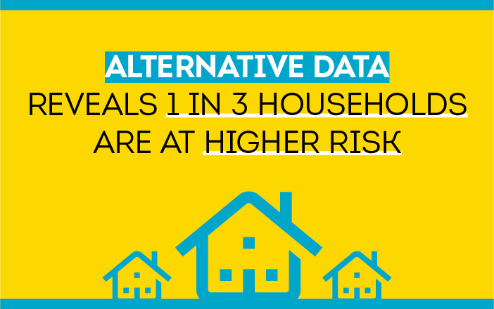 Banner image for blog Alternative Data Reveals 1 in 3 Households Are At Higher Risk