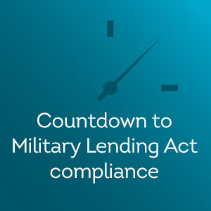 Thumbnail for countdown to military lending act compliance ebook